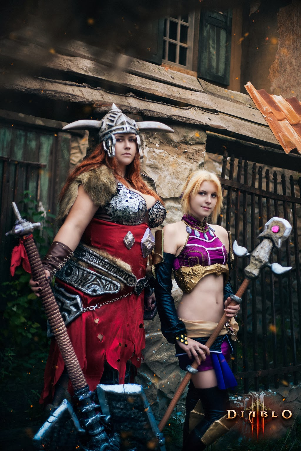cosplay féminin barbare et sorcière diablo 3