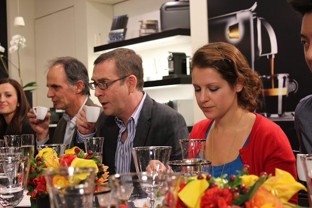 Dinner with Ted Allen at Nespresso, Boston, Mass.