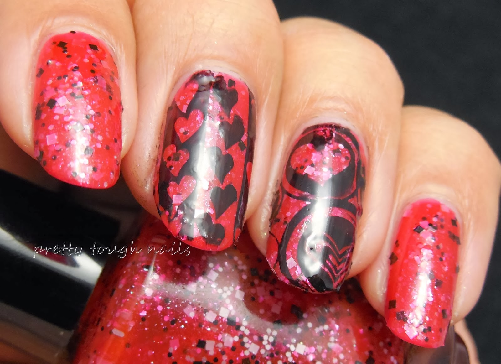 Hare Polish The Red Room With Pueen Stamping