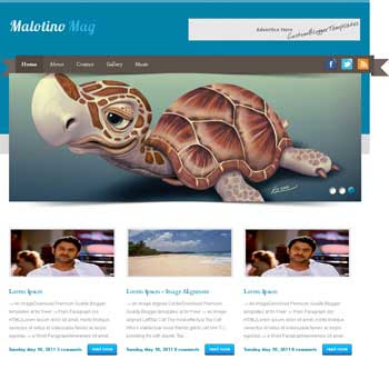 Malatino Mag blogger template. seo blogger template. 3 column footer template