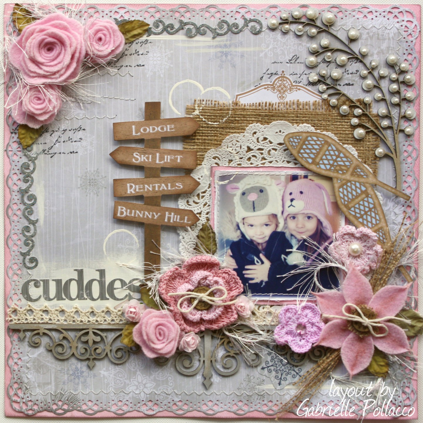 Scrapbook ideas with flowers - Technique Tuesday With Bo Bunny Felt Bloom Tutorial