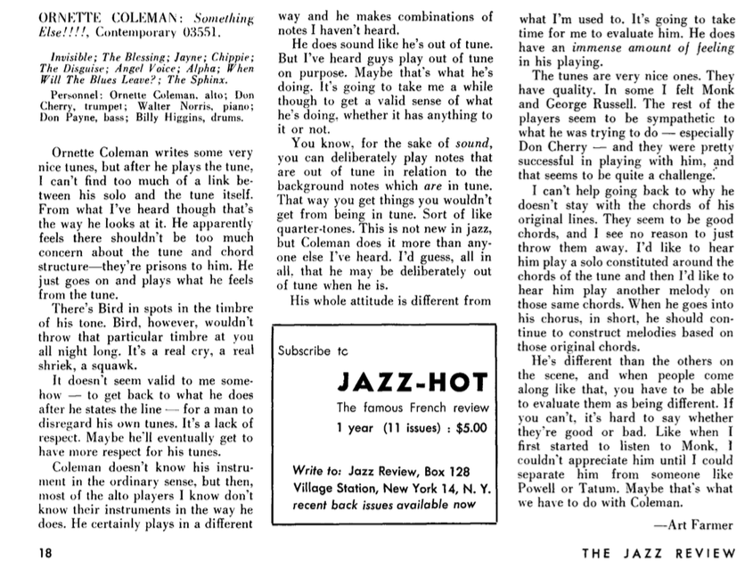 Art Farmer The Jazz Review
