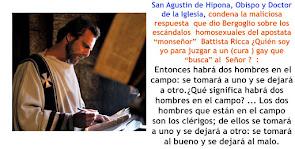 Agustín de Hipona, juzga al heresiarca Bergoglio.