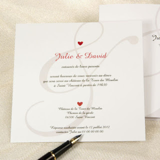 Exemple carte invitation mariage