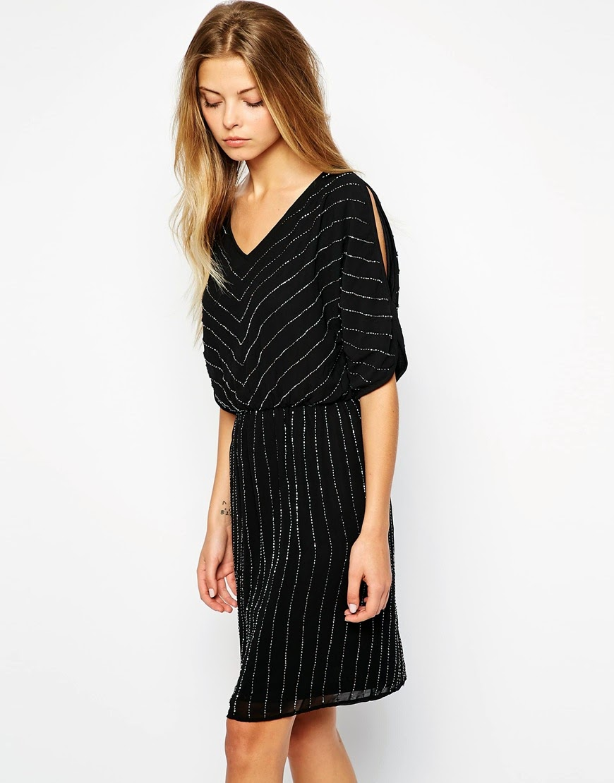 black and gold chevron dress, vila gold stripe dress,