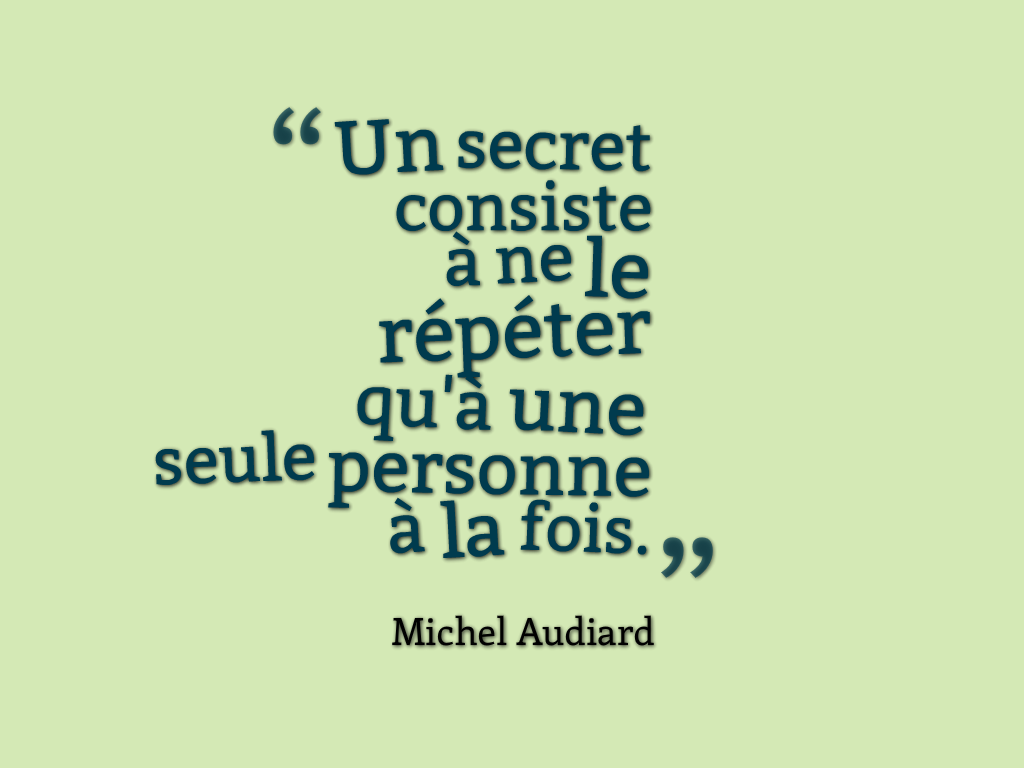 citation secret
