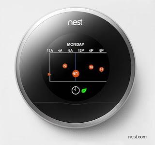 Monitor de un termostato inteligente de uso residencial