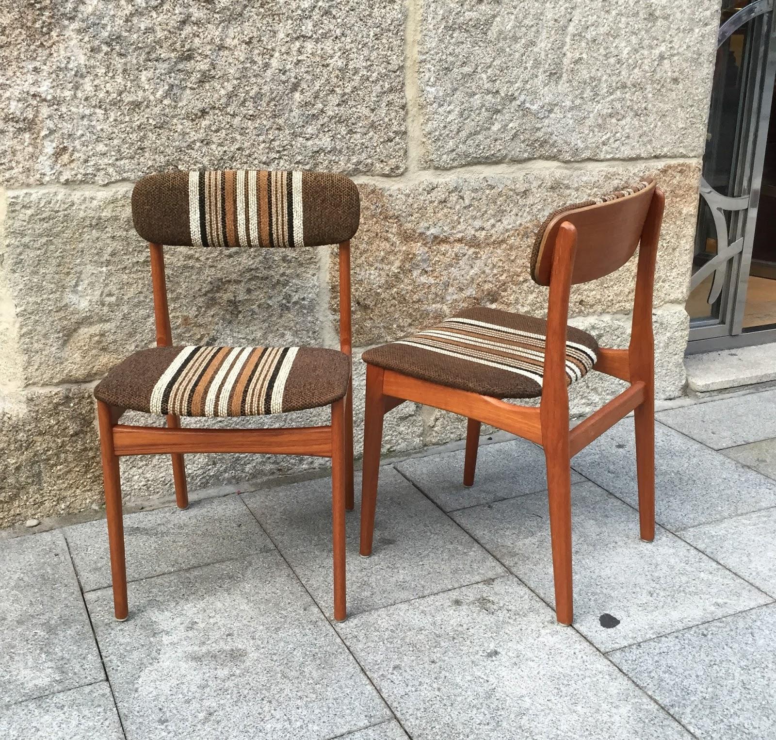 Pareja de sillas danesas a os 60 vintage jacoboansin - Sillas anos 60 ...