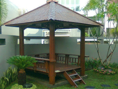 Tukang Taman Malang Desain Gazebo atau saung
