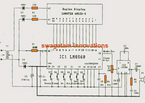 Simple Digital Clock Circuit Explained CIRCUIT DIAGRAMS FREE
