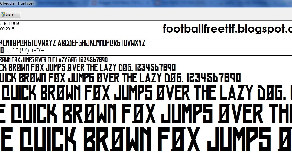 FOOTBALL TTF FREE DOWNLOAD: TTF Real Madrid 2015 2016 font ...