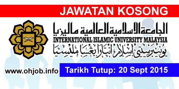 Jawatan Kerja Kosong International Islamic University Malaysia (IIUM) logo www.ohjob.info september 2015