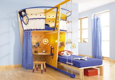 dormitorio original para niño