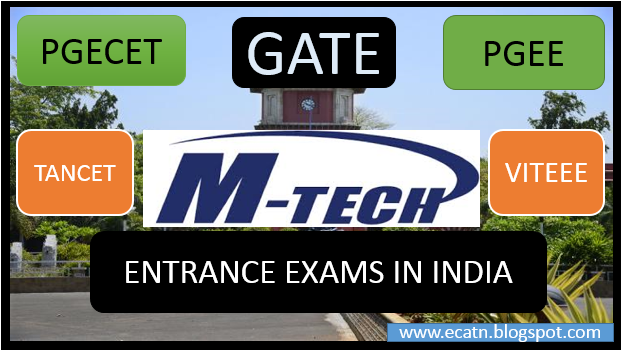 M.tech entrance exams gate