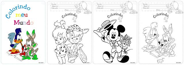 Caderno Colorindo meu Mundo