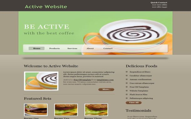 Free active business jquery css website template fbccfo Images