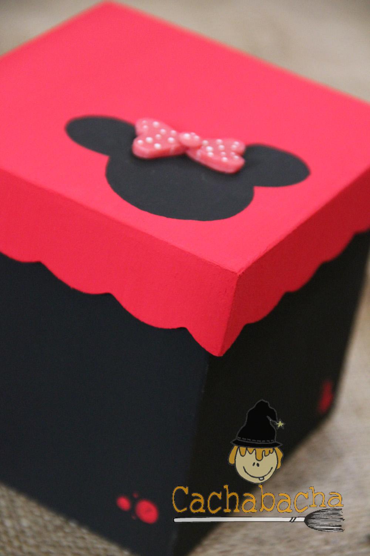 Cachivaches en madera cajas de fibrof cil decorada con minnie - Caja decorada con fotos ...