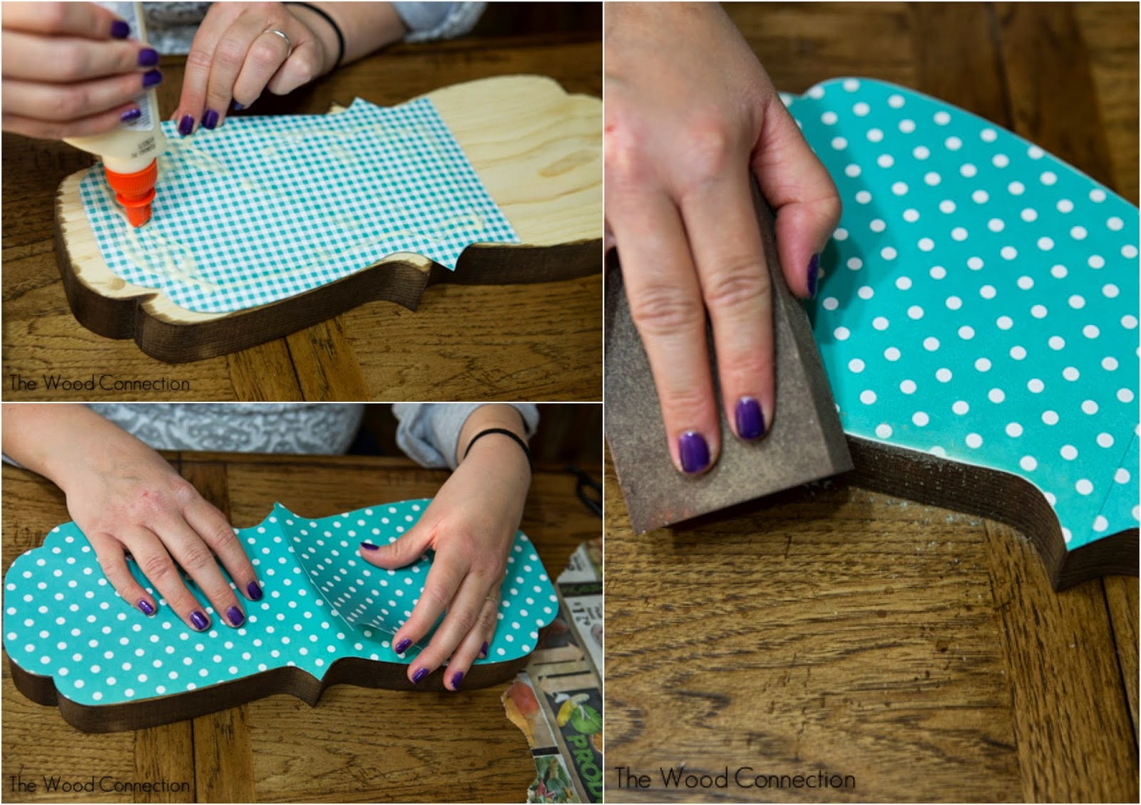 How to glue scrapbook paper to wood letters - Scrapbook Paper Wooden Letters Then Trace Your Cute Shaped Block Of Wood Onto Your Scrapbook