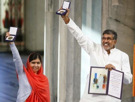 Kailash Satyarthi, Malala Yousafzai receive Nobel Peace Prize