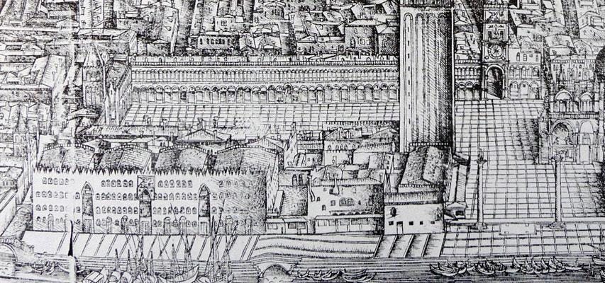 A detail of the Barbari map, 1500