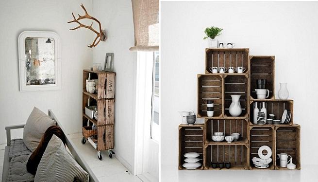M s y m s manualidades mas decoraci n con rejas de madera - Decorar reciclando muebles ...