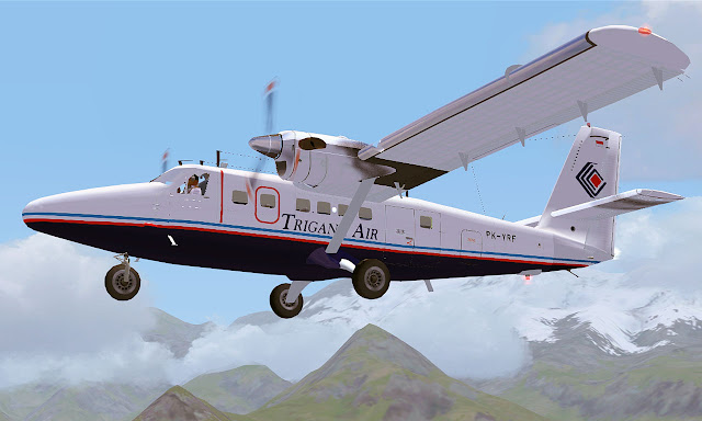 [LAGO] Trigana Air Service DHC-6 (PK-YRF)