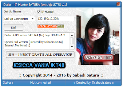 Download Dialer + IP Hunter SATURA (tm) Jeje JKT48 v1.2 | Full Version