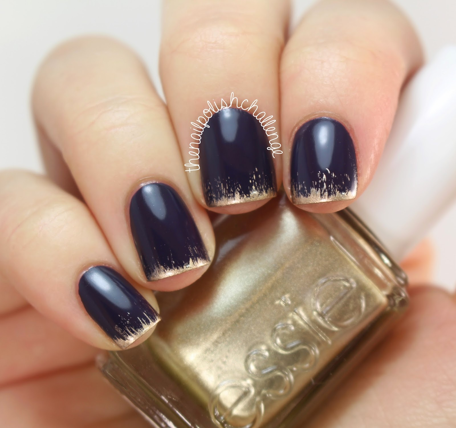 Kelli Marissa: New Year\'s Grungy French Manicure