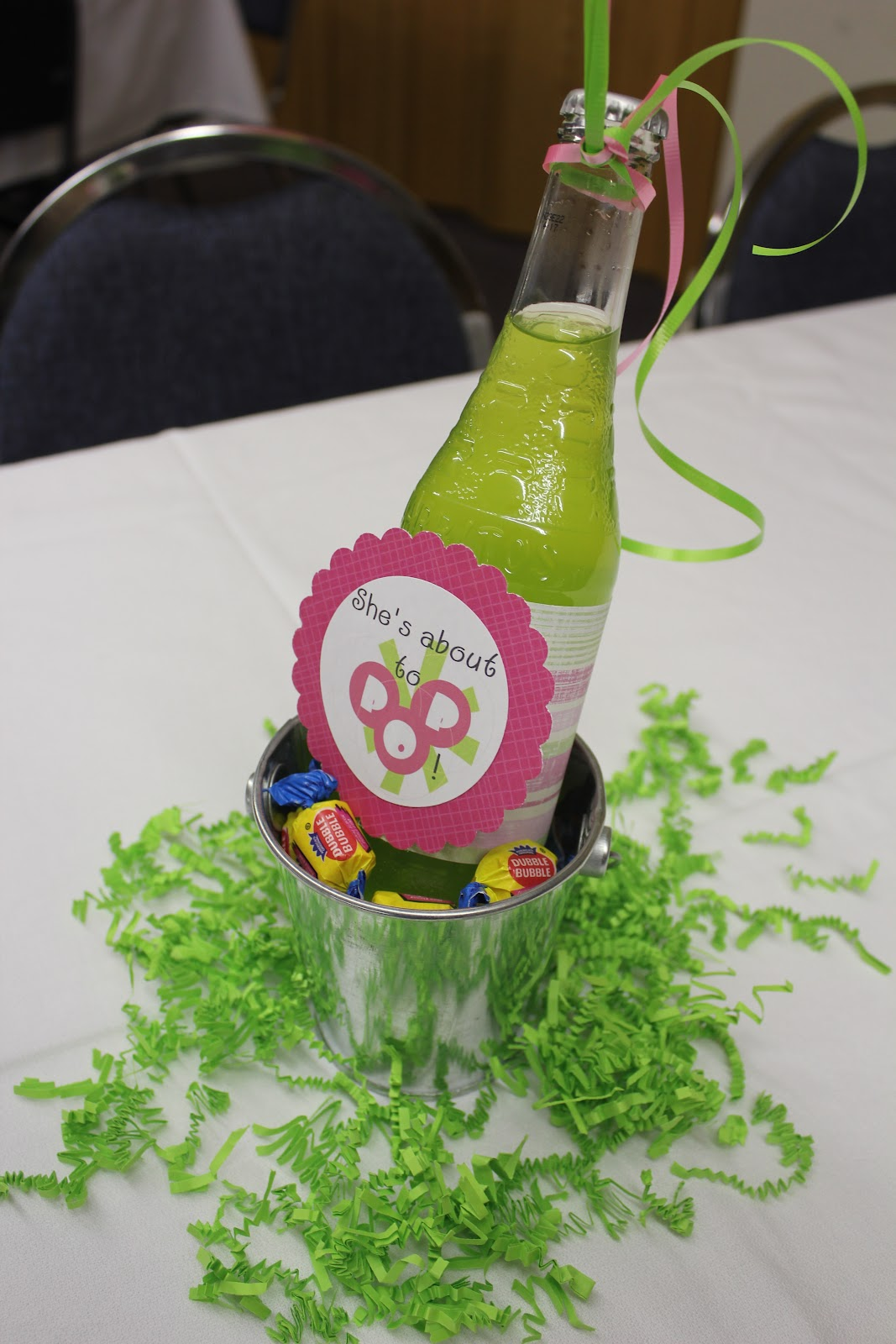 A blissful bash pink and lime green quot she s about to pop