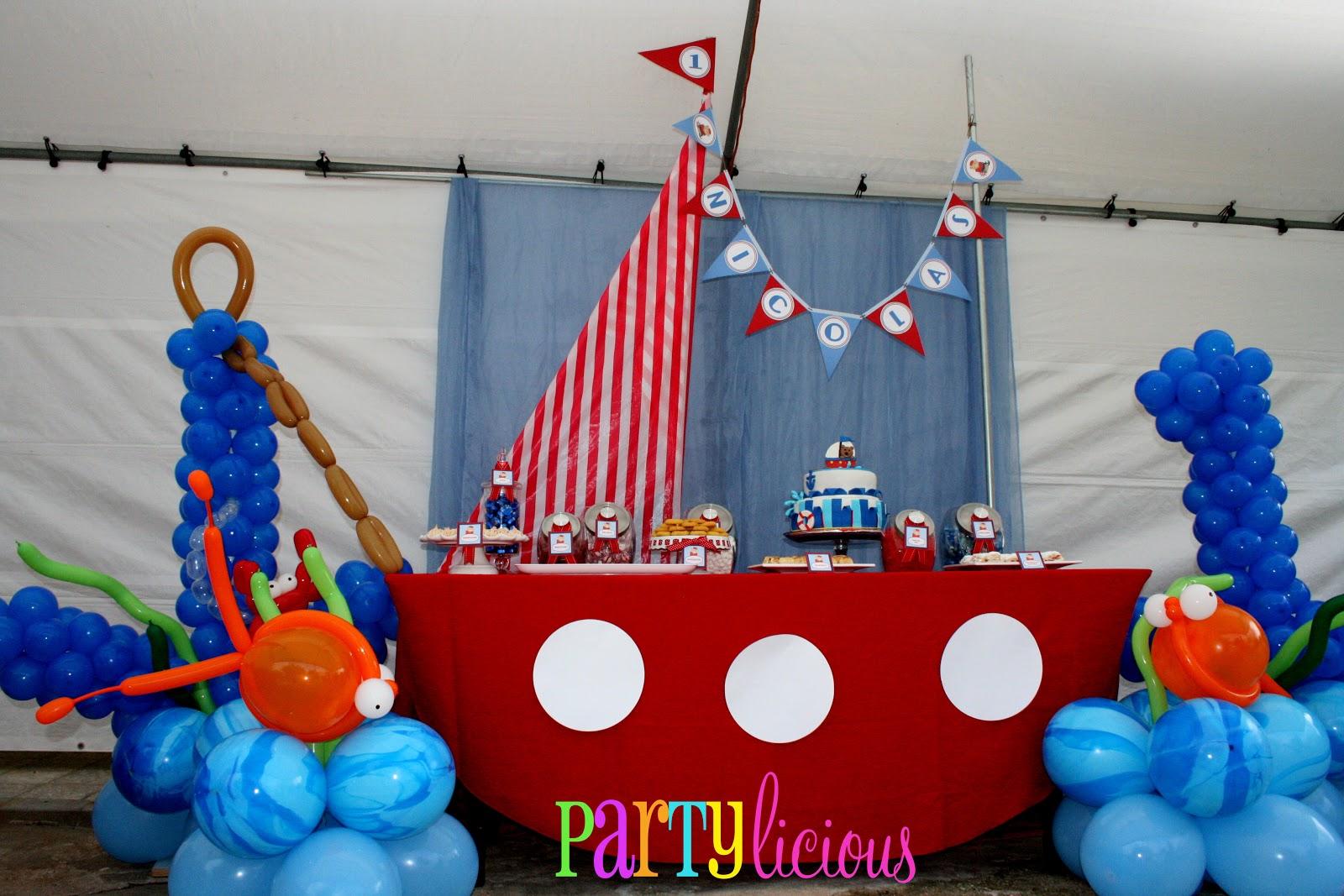Partylicious Events Pr Little Sailor Bear 1st Birthday