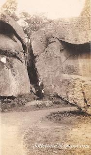 Millard Davis at Devil's Den, Gettysburg