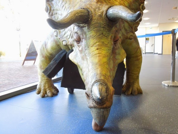 Animatronic Triceratops Doctor Who Dinosaurs on a Spaceship