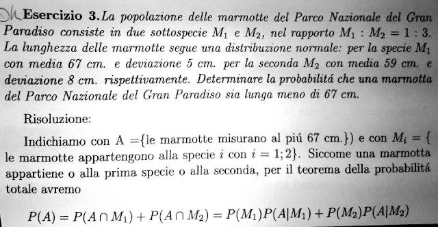 statistica esercizio marmotte