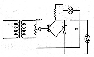 Lampu Disko Satu Transistor