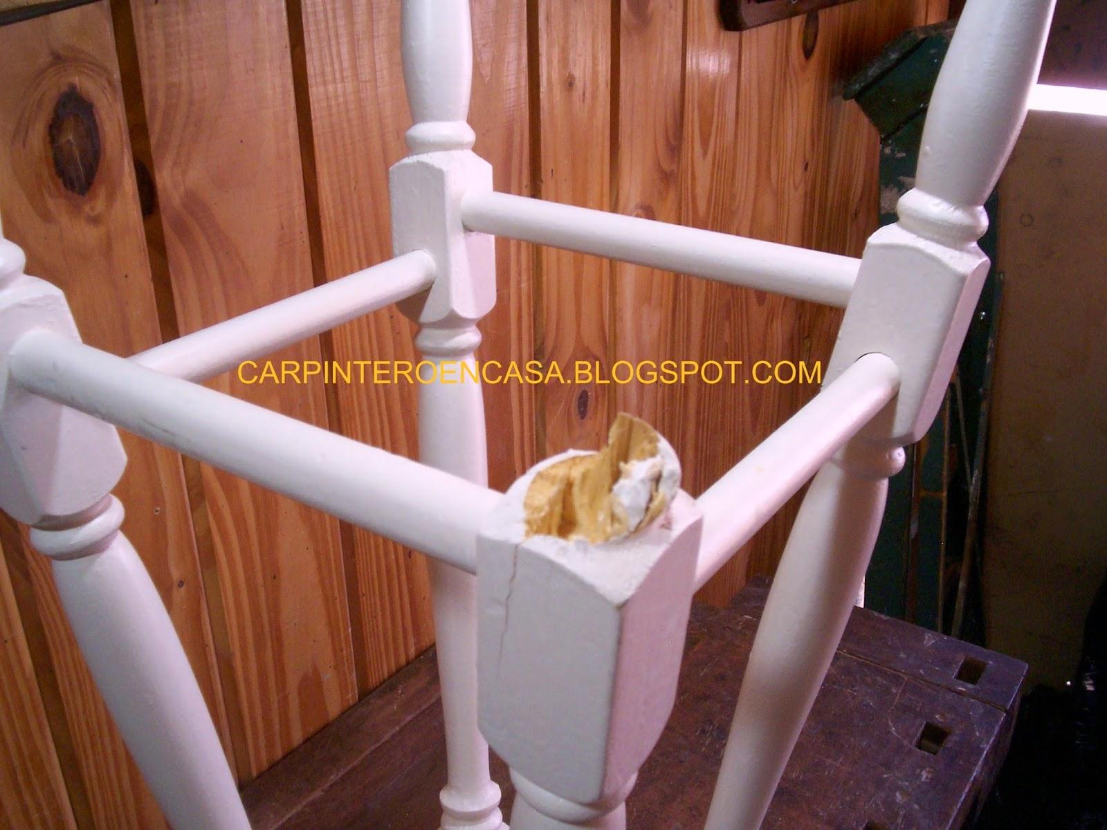 Carpintero en casa como reparar una pata de banco - Pasta para reparar madera ...