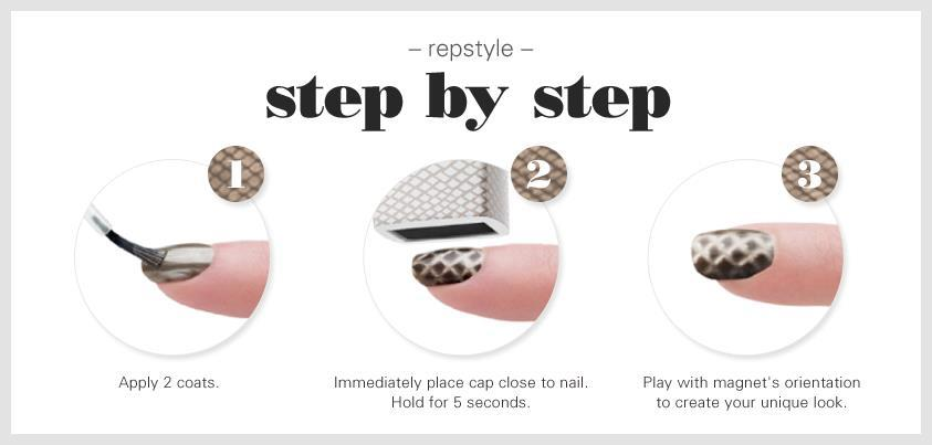 Repstyle Magnetic Polish Collection By Essie - Snakeskin Style ...