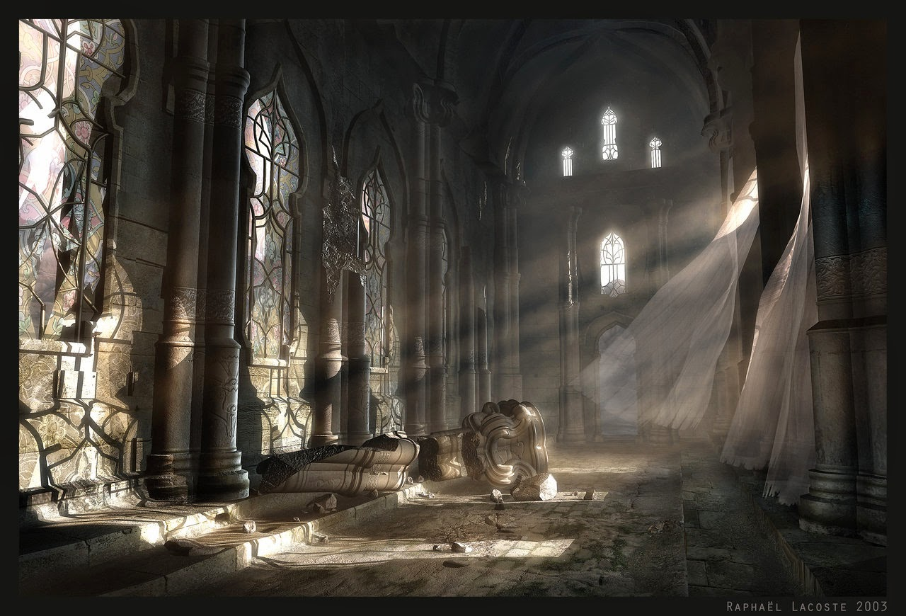 06-Dawn-on-the-Ancient-Hall-Raphael-Lacoste-Matte-Paintings-and-Concept-Worlds