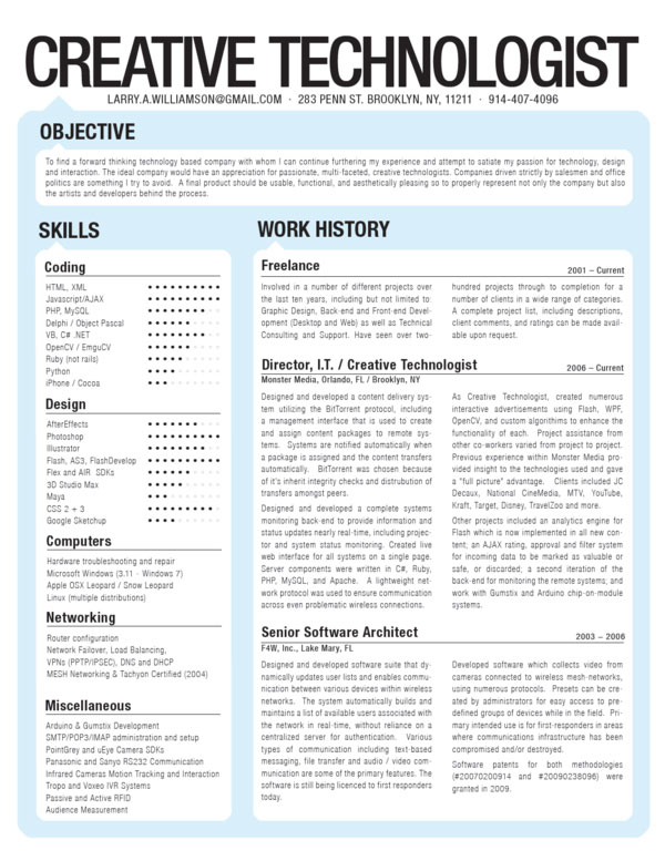 interesting creative amazing resume design
