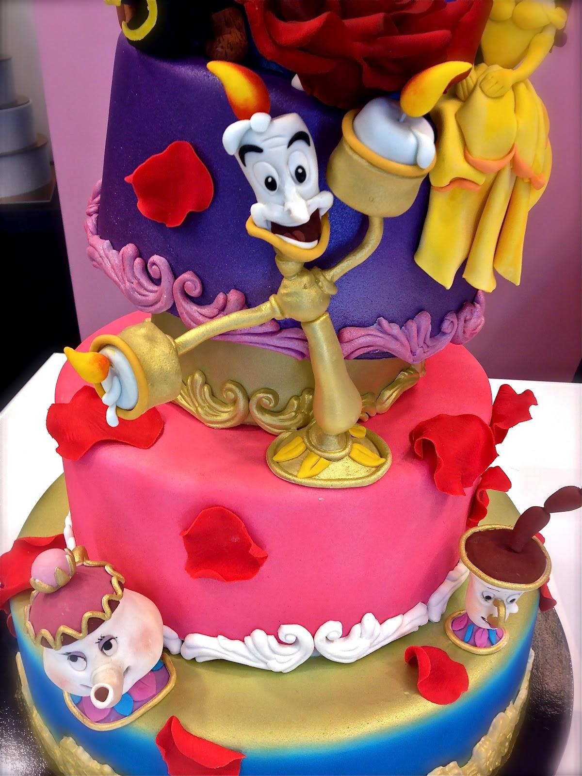 Cake Designer Torta La Bella E La Bestia