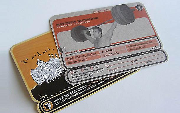 cartões de visita criativos - Matthew Richmond