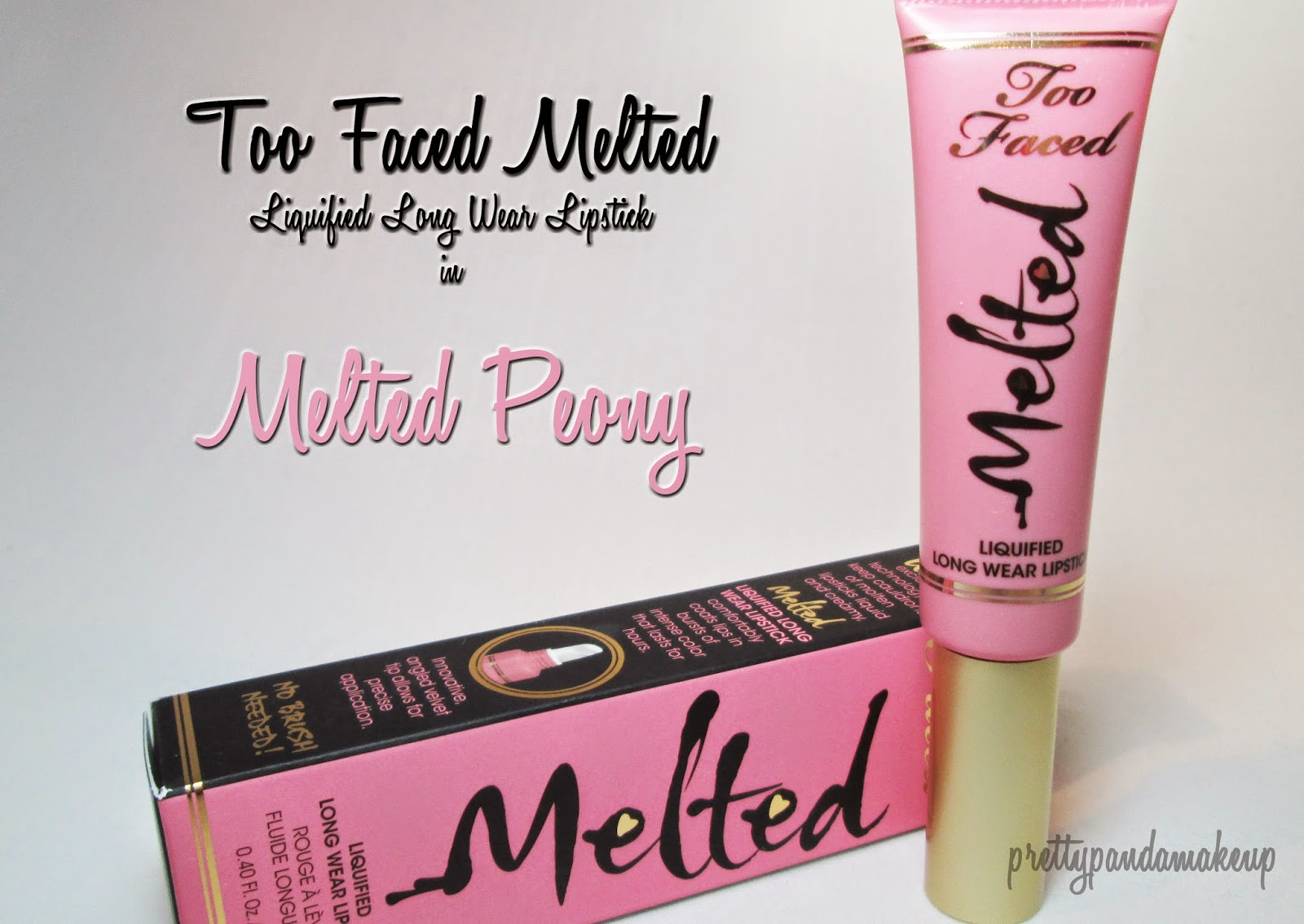 Too Faced Melted liquid lipstick in Melted Peony