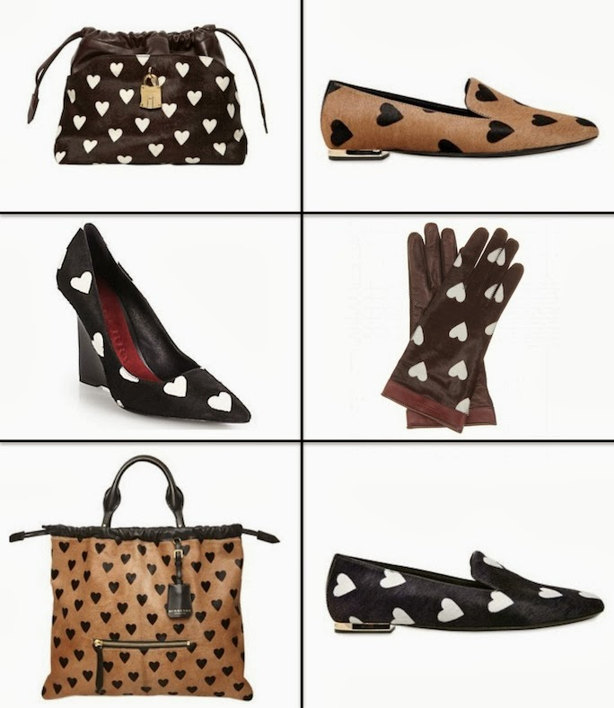 burberry heart print shoes