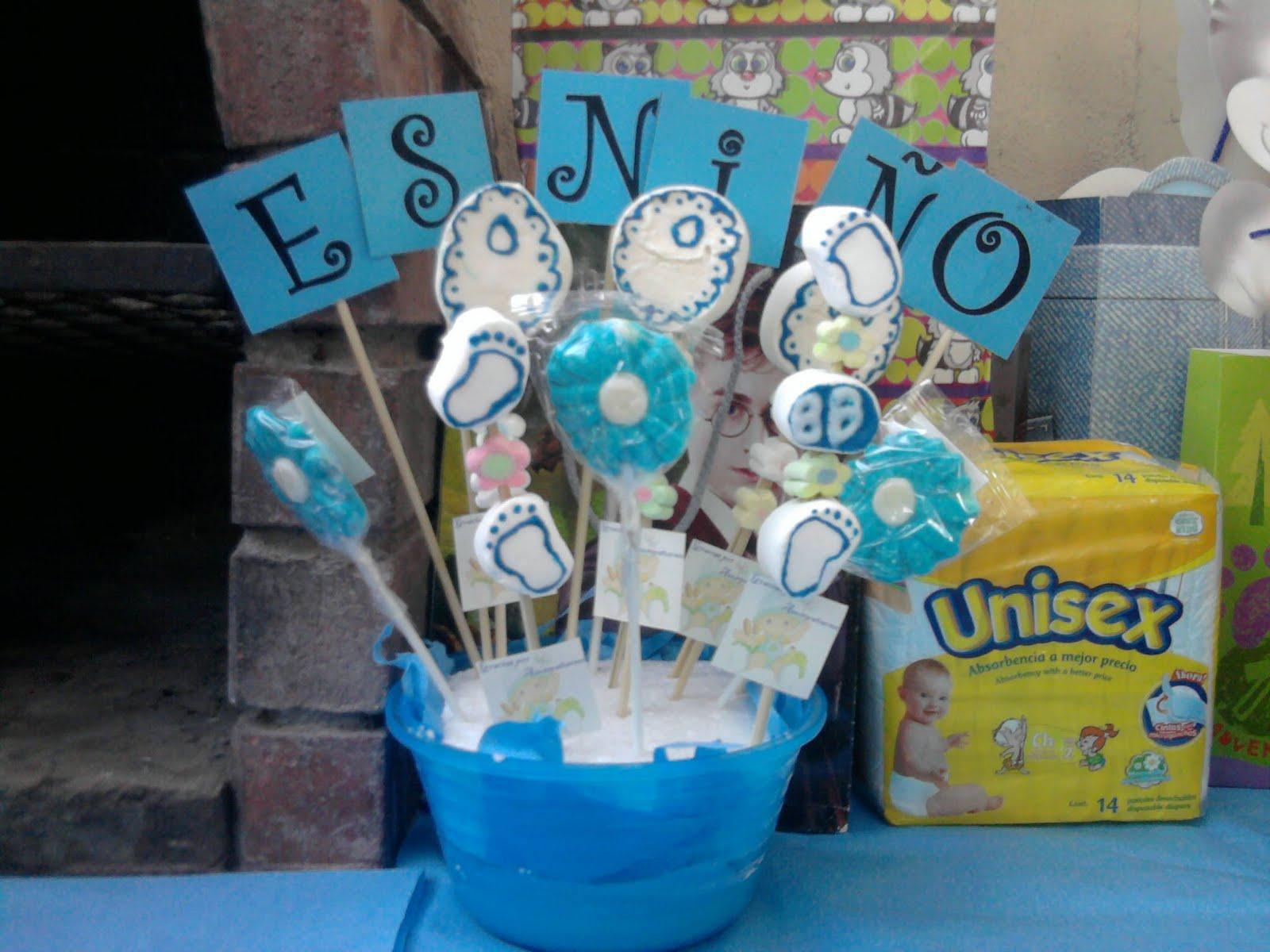 Centros De Mesa Para Baby Shower Niño