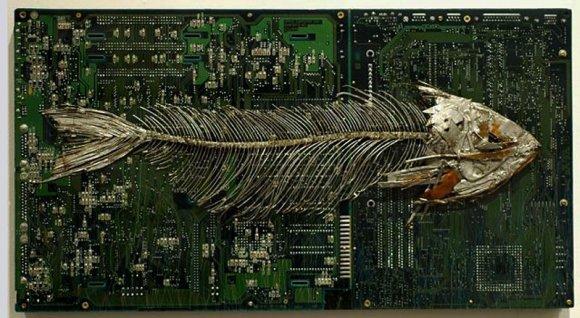 peter mcfarlane pinturas esculturas placas de circuito eletrônico