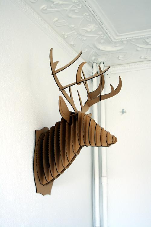 Mazzetina decoracion cabeza de ciervo - Cabeza ciervo carton ...