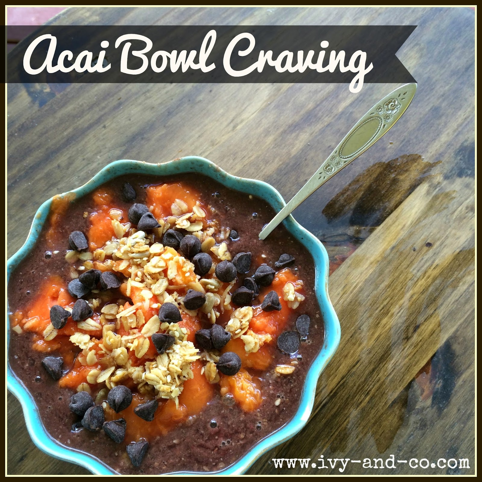Acai Bowl recipe from Hawaii