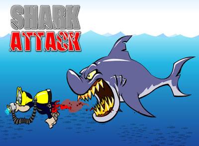 cover game shark attack petualangan bawah laut