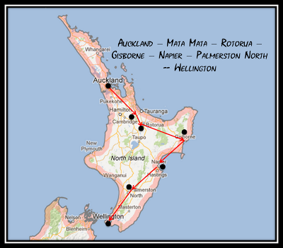 My North Island Road Map