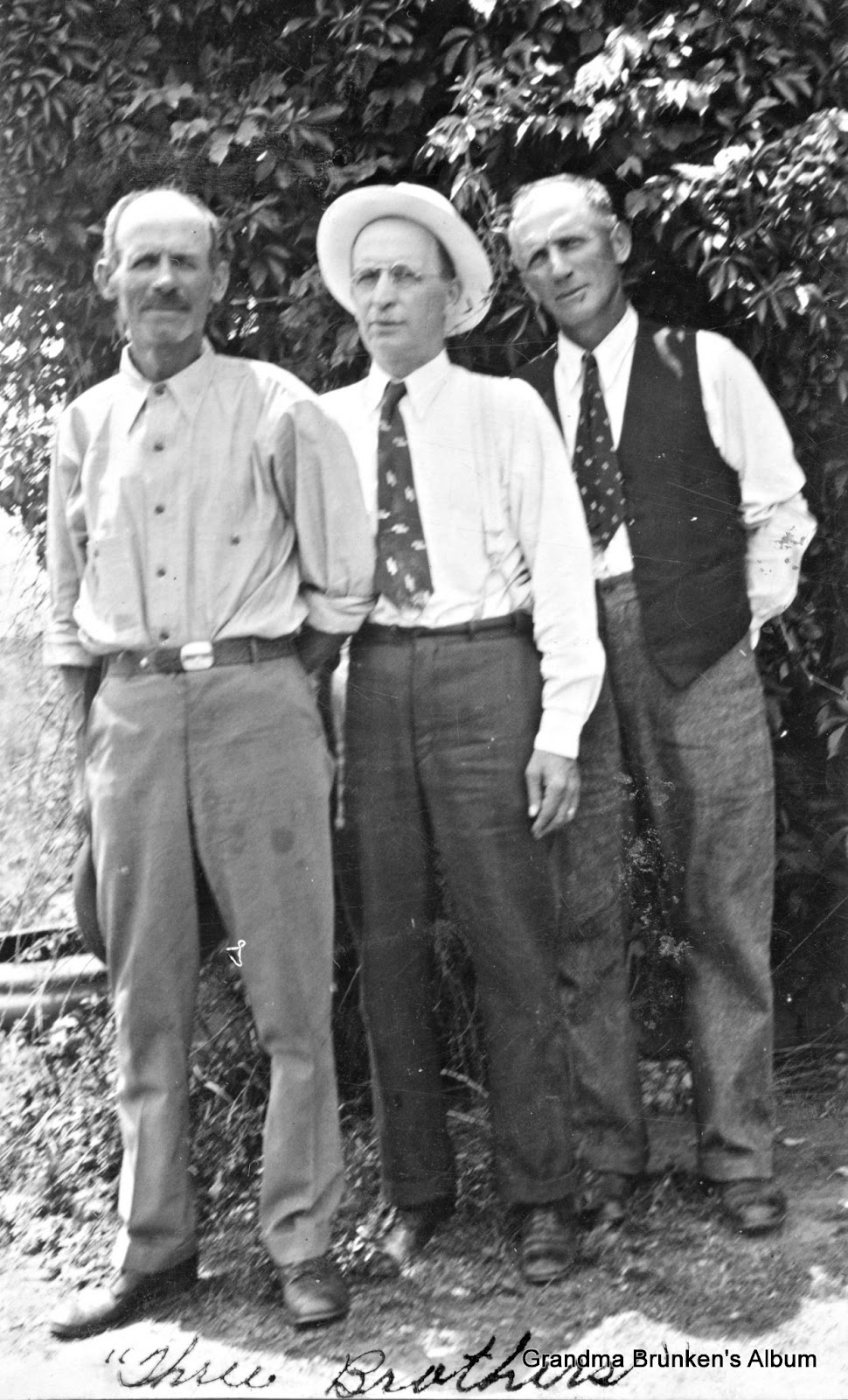 Three Brothers - William, Louie and Gus Brunken