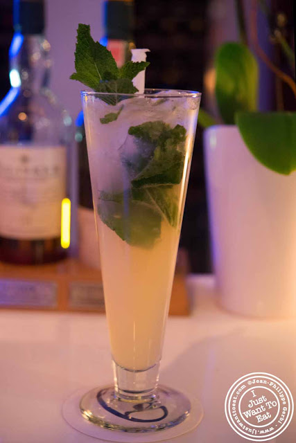 Image of ouzo mojito at Thalassa Greek restaurant in Tribeca NYC, New York